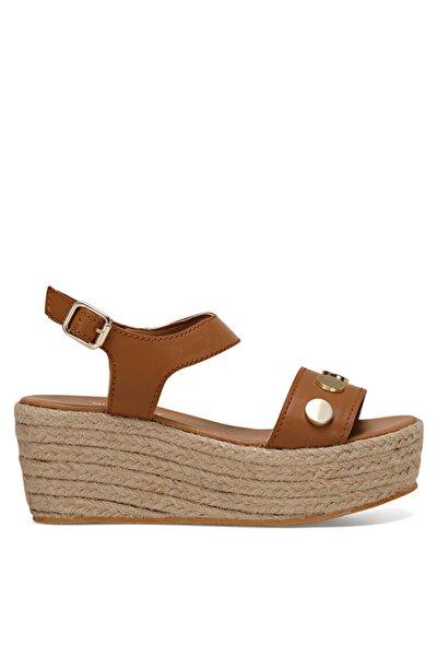 VALADON Taba Kadın Dolgu Topuklu Sandalet 100526221