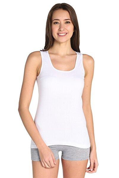 Kadın Beyaz 3'lü Paket Atlet Elf568t0136ccm3