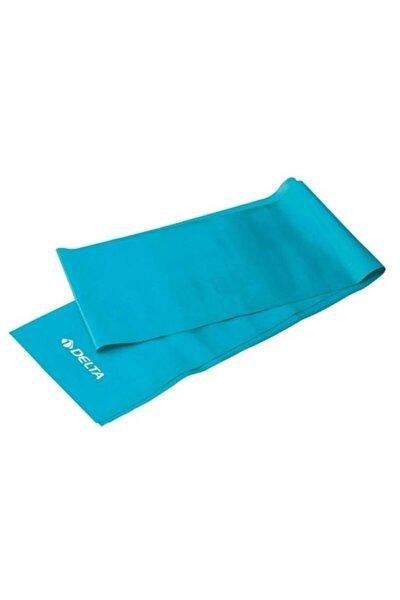 Turkuaz Orta Sert Egzersiz Pilates Bandı Direnç Lastiği 120x15 cm