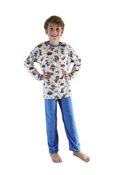Erkek Çocuk Brawl Stars Desenli Uzun Kollu Pijama Takımı