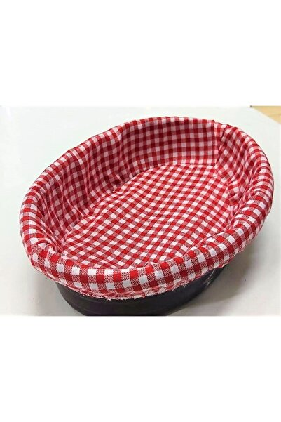 Kırmızı Bezli Ekmek Sepeti