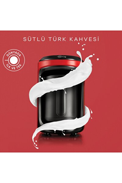 Hatır Hüps Sütlü Türk Kahve Makinesi Kırmızı