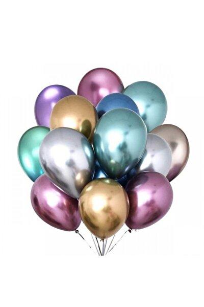 Krom Balon Karışık 10 Adet