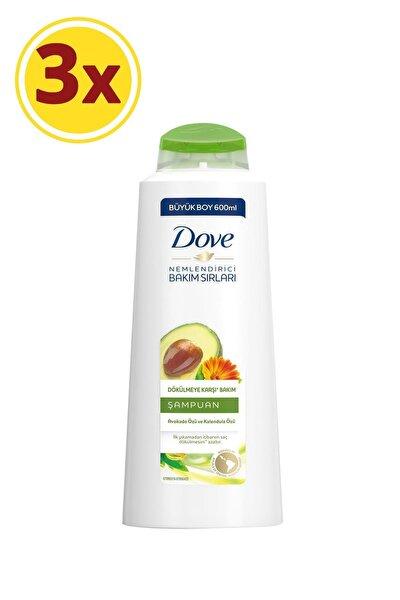 Avokado Özlü Dökülmeye Karşı Saç Bakım Şampuanı 600 ml X3