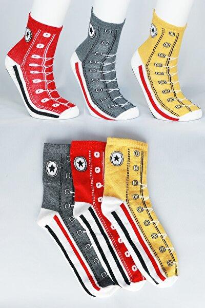 3 Lü Converse Model Spor Çorap