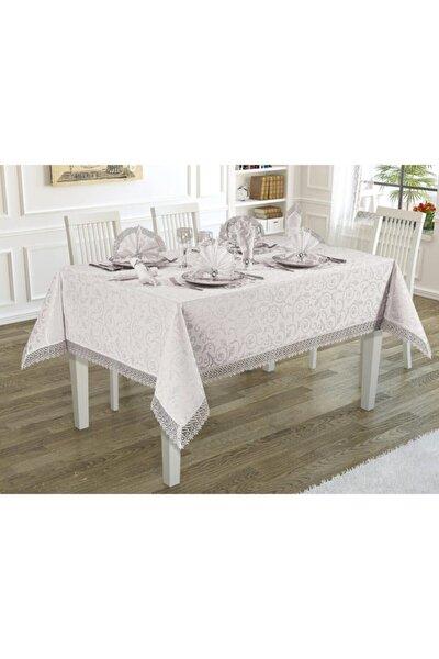 Kdk Güpürlü Masa Örtüsü Seti 12 Kişilik 160x300 cm