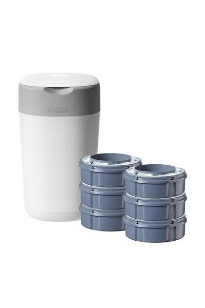 Twist&click Bebek Bezi Çöp Kovası Sistemi + 6'lı Kartuş Çöp Poşeti