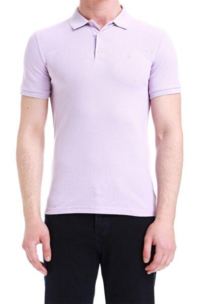 Erkek Lila Slim Fit Spor T-shirt Ts 734