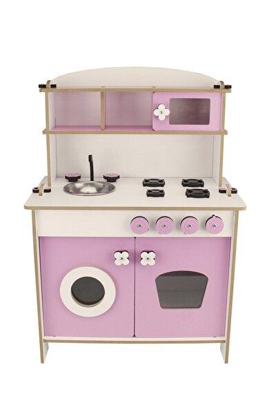 Ahşap Oyuncak Mutfak Seti Pembe(70x50x30)