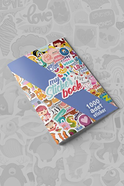 My Sticker Book , 1000 Adet Sticker , 16 Sayfa ( A5 Boyut)