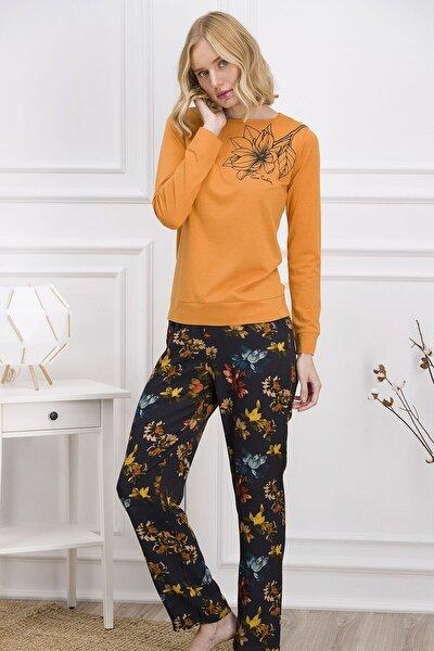 Turuncu Kadın Pijama Takımı