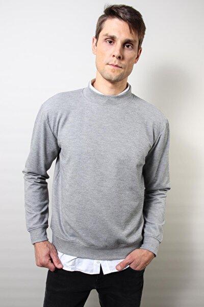 Erkek GriBoğazlı Sweatshırt (e20-230205)