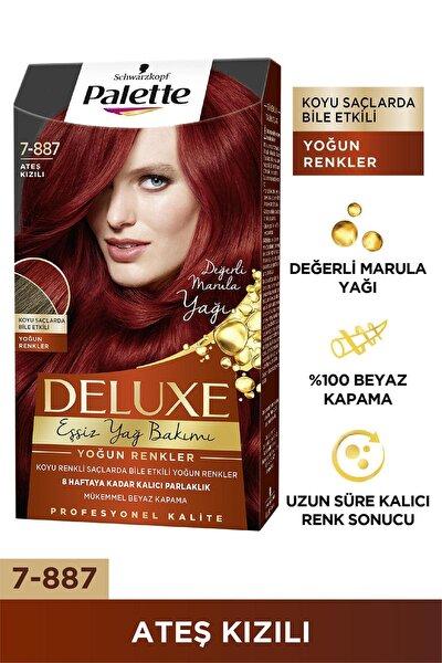 Deluxe Yoğun Renkler 7-887 Ateş Kızılı Saç Boyası