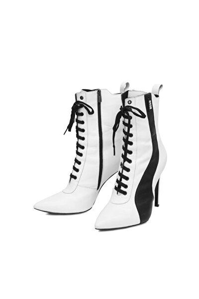 Kadın Beyaz Siyah Ayakkabı Cheerleader