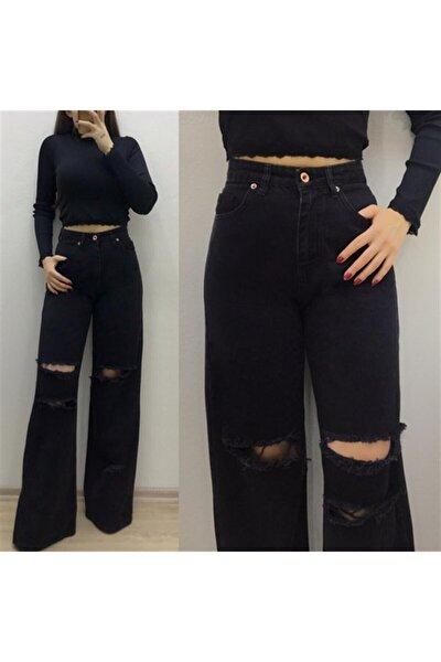 Kadın Yırtıklı Model Bol Pantolon 544657641