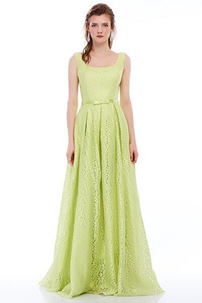 4036 Yakma Organze Elbise