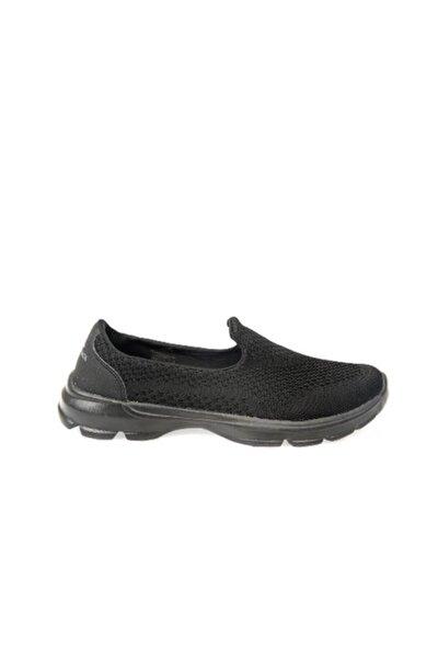 Kadın Siyah Bağsız Sneaker Spor Ayakkabı