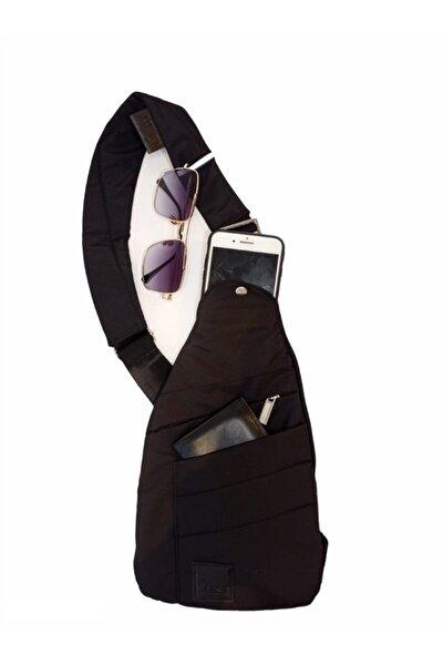 Unisex Siyah Omuz Göğüs İçin Askılı Çapraz Sırt Çantası