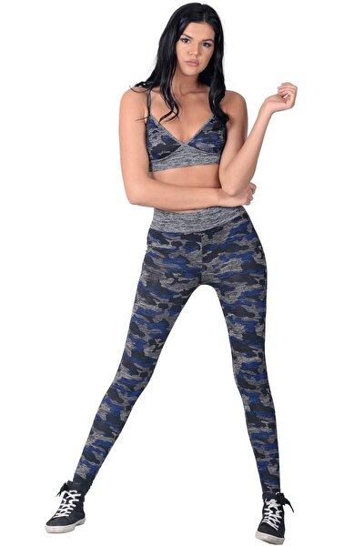 Kadın Lacivert Fitness Tayt Takım 2li