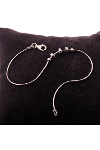 Kadın Trend Rodyumlu Gümüş Bileklik 1134