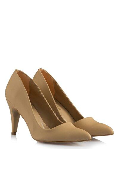 36-41-42-43-44 Numara Stiletto Nude Renk Büyük Numara Kadın Ayakkabısı