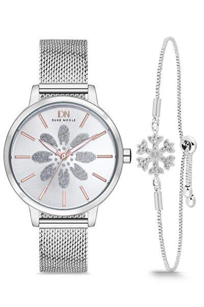 Kadın Gümüş Kol Saati Seti T3xbg17001e