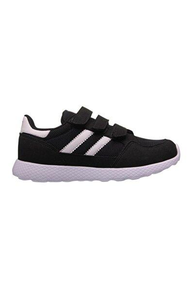 Çocuk Siyah Beyaz Spor Ayakkabı 201-3011ft 100