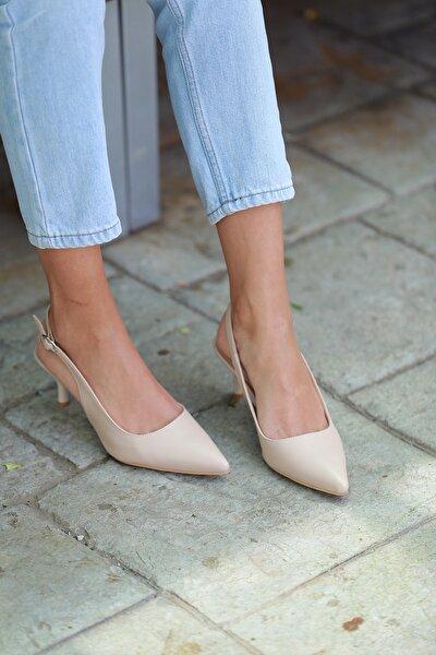 Samba Ten Deri Kadın Topuklu Ayakkabı
