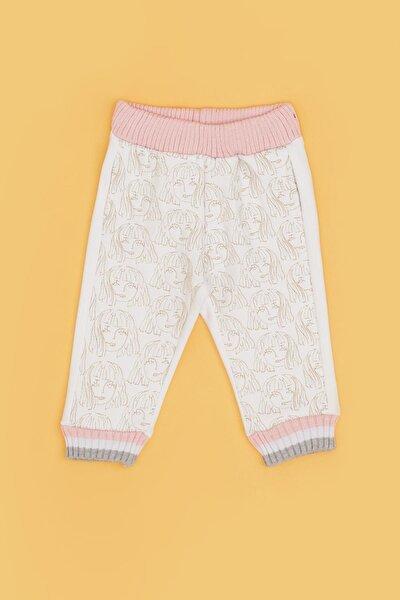 Kız Bebek Beyaz Eşofman Altı 20fw0bg2220
