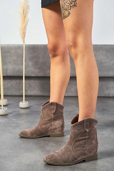 Concus Vizon Hakiki Deri Kadın Gizli Topuk Bot
