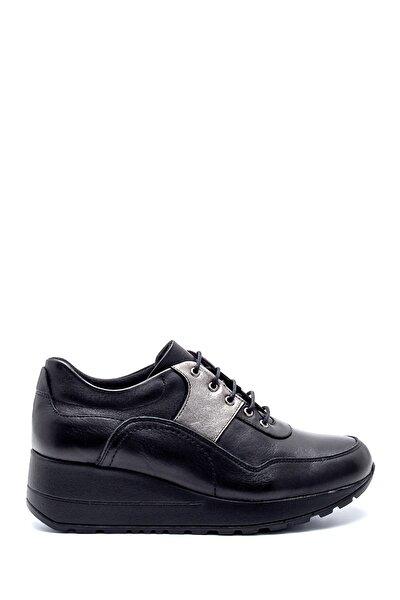 Kadın Deri Dolgu Topuk Sneaker