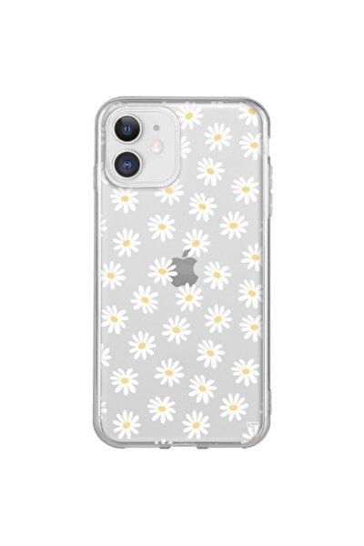 Iphone 11 Şeffaf Silikon Papatya 2 Telefon Kılıfı
