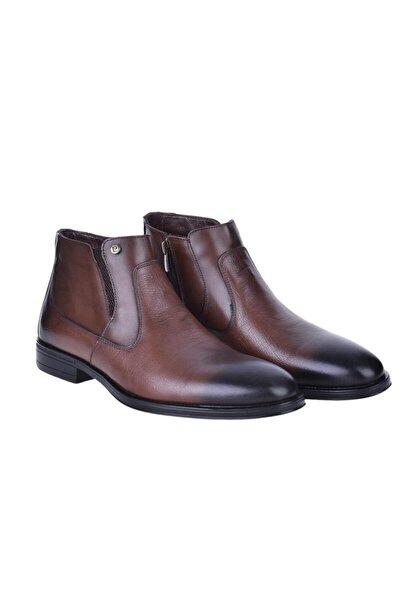 1196063 Kahve %100 Deri Erkek Klasik Bot Ayakkabı