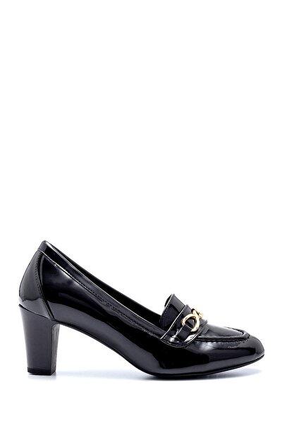 Kadın Rugan Kalın Topuklu Ayakkabı