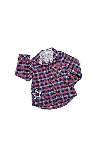 Kız Bebek Yıldız Modelli Ekose Gömlek 6-24 Ay