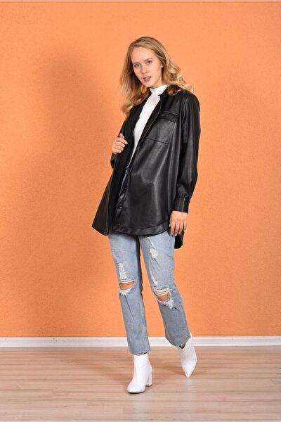 Siyah Deri Gömlek 201090236