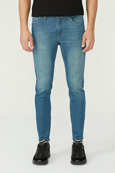 Erkek Mavi Skinny Fit Jean Pantolon E003507