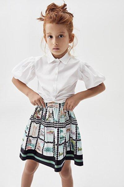 Kız Çocuk Beyaz Gömlek 20pfwtj4601