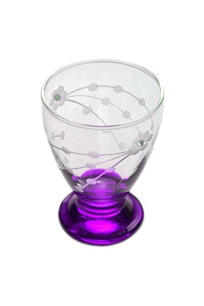 41011 Çın Çın 12 Adet (Mor Selvi Taşlı) Su-meşrubat Bardağı