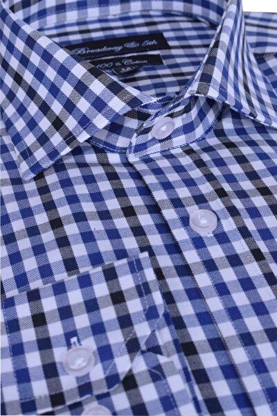Broadway Uzun Kollu Kareli Erkek Gömlek