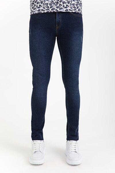 Erkek Lacivert Slim Fit Jean Pantolon A01y3571