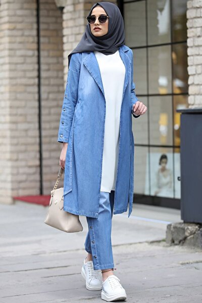 Elit Kot Ceket Pantolon Takım Mavi