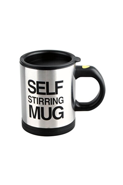 Kendini Karıştıran Mikser Kupa Termos Bardak Siyah - Self Stirring Mug