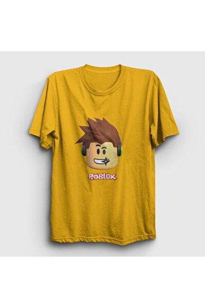 Unisex Sarı Kid Roblox T-Shirt 30958tt