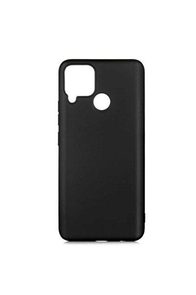Realme C15 Uyumlu (soft Tasarım) Yumuşak Silikon Kılıf Siyah