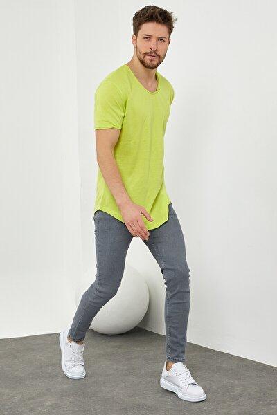 Erkek Fıstık Yeşili Salaş T-shirt-tcps001r55s