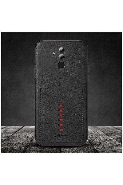 Huawei Mate 20 Lite Kılıf Zebana Chic Cepli Kılıf Siyah