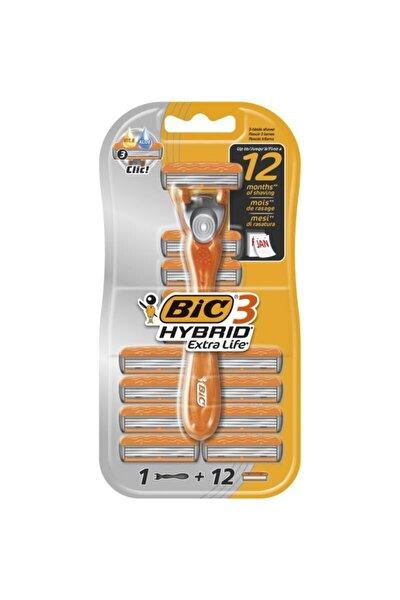 Bıc 3 Hybrid Extra Life Tıraş Bıçağı 12 Kartuşlu