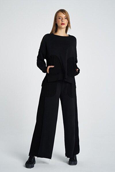 70'ler Tarzı Geniş Paça Pis Kesim Detaylı Bol Eşofman Altı/ Pantolon