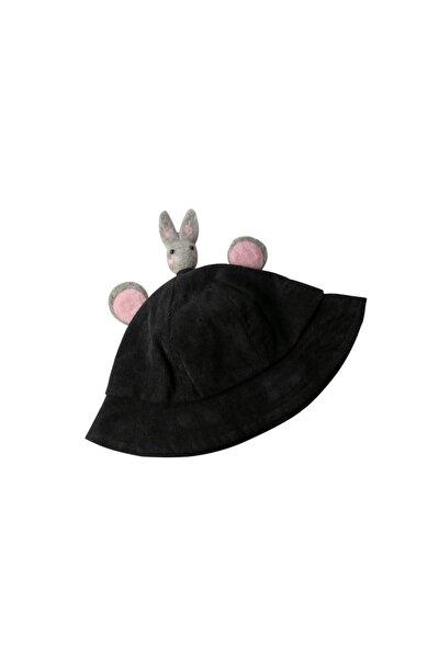 Hello Rabbit Çocuk Şapka - Siyah